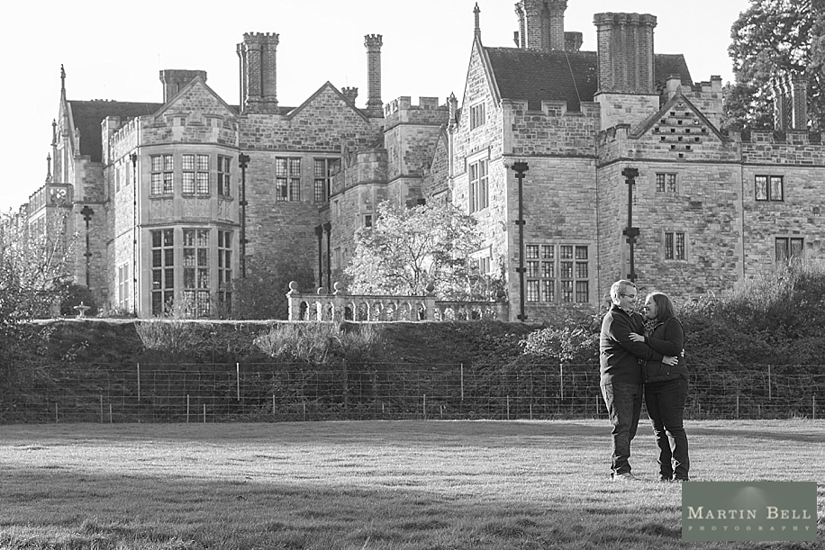 Rhinefield House engagement photo shoot with the Bride and Groom having their wedding at Rhinefield House by Martin Bell Photography