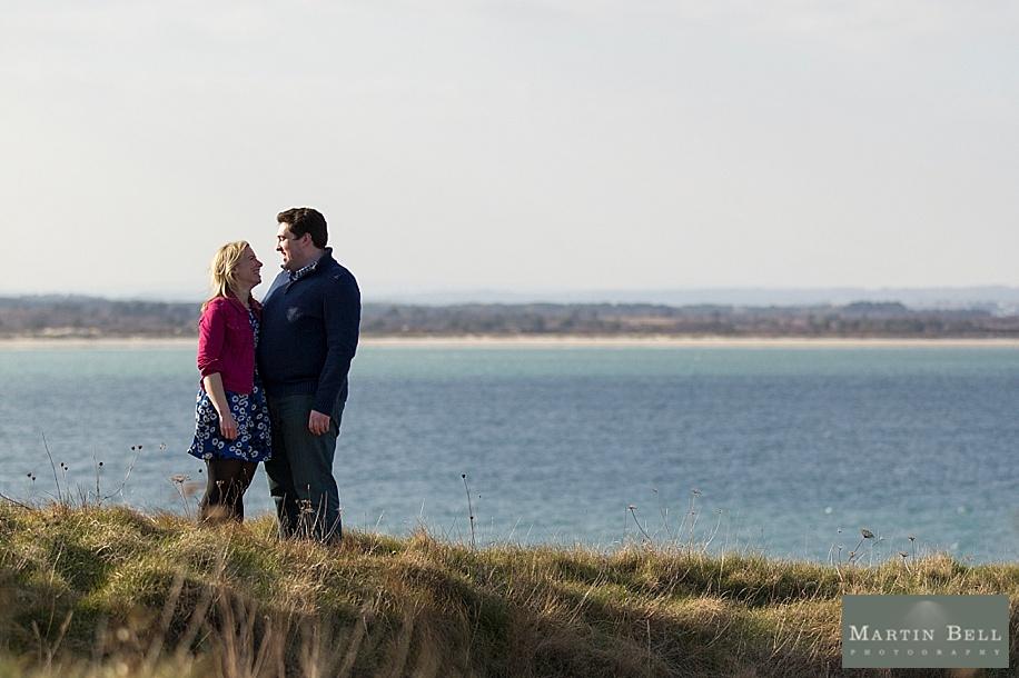 Dorset wedding photographer - Martin Bell photography - photographs an engagement photo shoot at Old Harry's Rocks