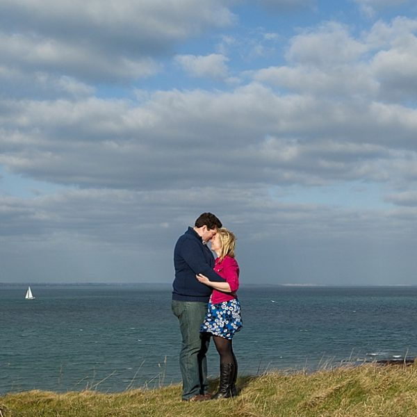 Dorset wedding photographer - A stunning Old Harry's Rocks engagement photo shoot