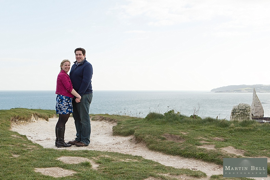 Dorset wedding photographer - Old Harry's Rocks engagement photo shoot