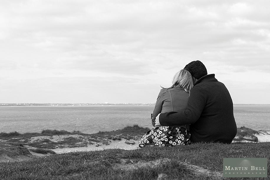 Dorset wedding photographer - Old Harry's Rocks engagement photo shoot near Sandbanks