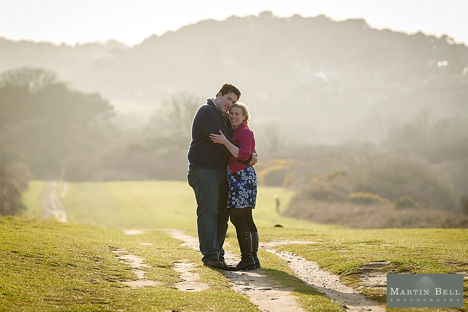 Dorset wedding photographer - Old Harry's Rocks engagement photo shoot near Sandbanks BH13