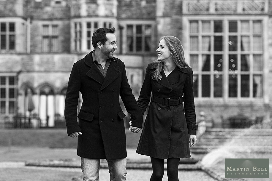Engagement photo shoot at Rhinefield House with the Bride and Groom to be by Hampshire wedding photographer - Martin Bell Photography