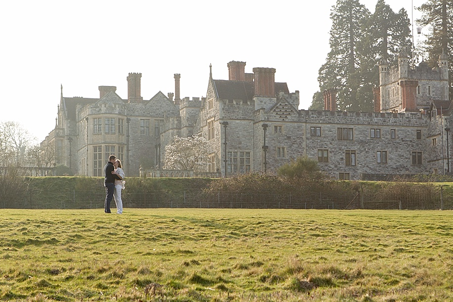 Zoe and James's engagement photo shoot at Rhinefield House