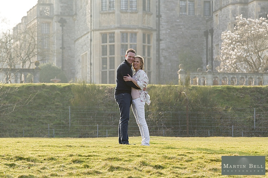 engagement photo shoot at Rhinefield House by Hampshire wedding photographer Martin Bell
