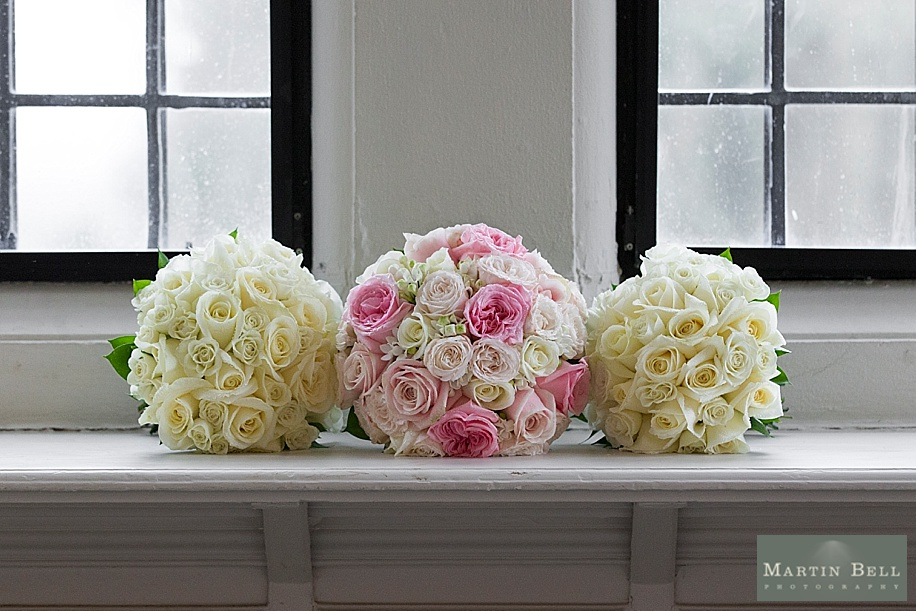 Rhinefield House wedding - pretty pink wedding flowers