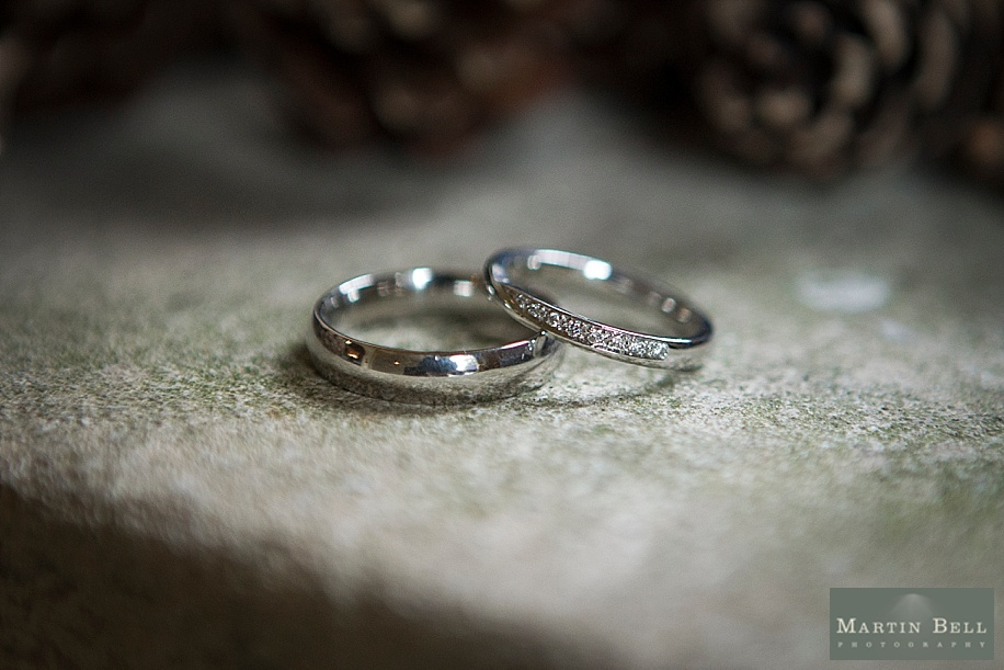 Rhinefield House wedding with Leanne and Mark by Hampshire wedding photographer - Martin Bell Photography - wedding rings