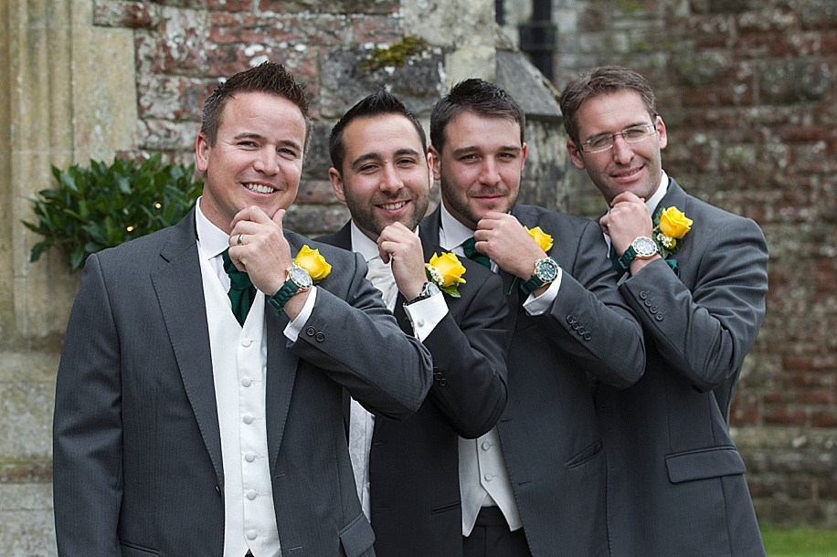 Rhinefield House wedding photography by Martin Bell Photography - Fun Groomsmen photographs