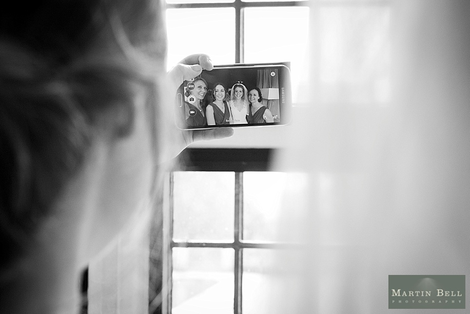 Rhinefield House wedding photography by Martin Bell Photography - Bride and Bridesmaid selfie - Fun wedding photograph ideas