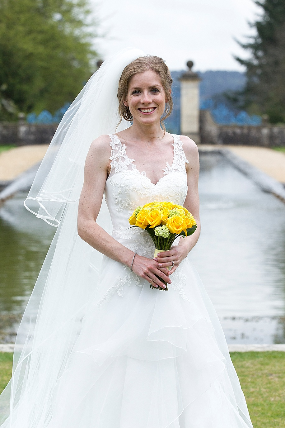 A beautiful Bridal portrait at a Rhinefield House wedding