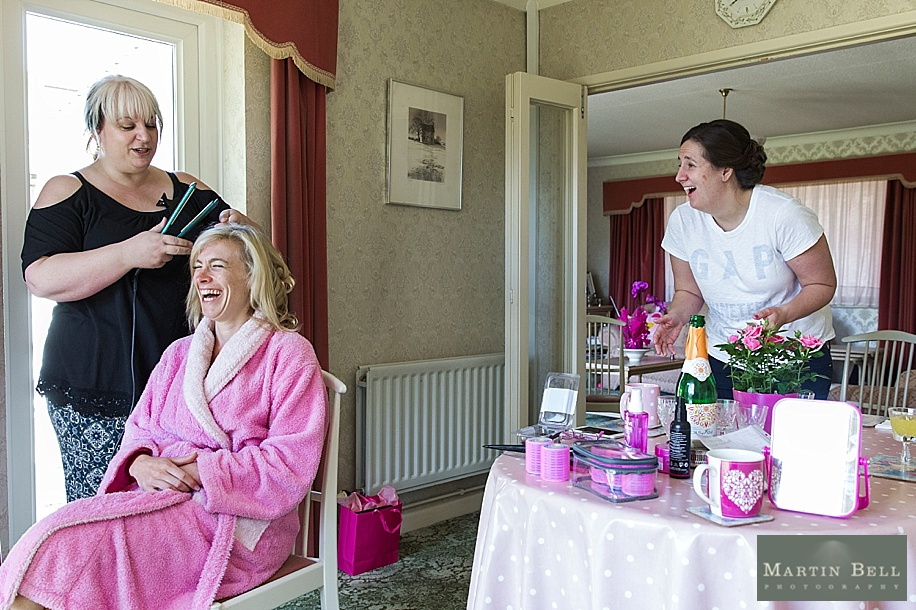 Dorset wedding photographer - Bride getting ready - Martin Bell Photography