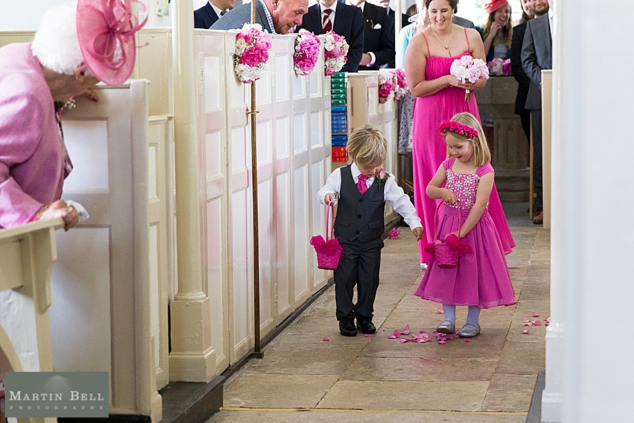 Dorset wedding photographer - Martin Bell Photography - cute flower girl and page boy photo