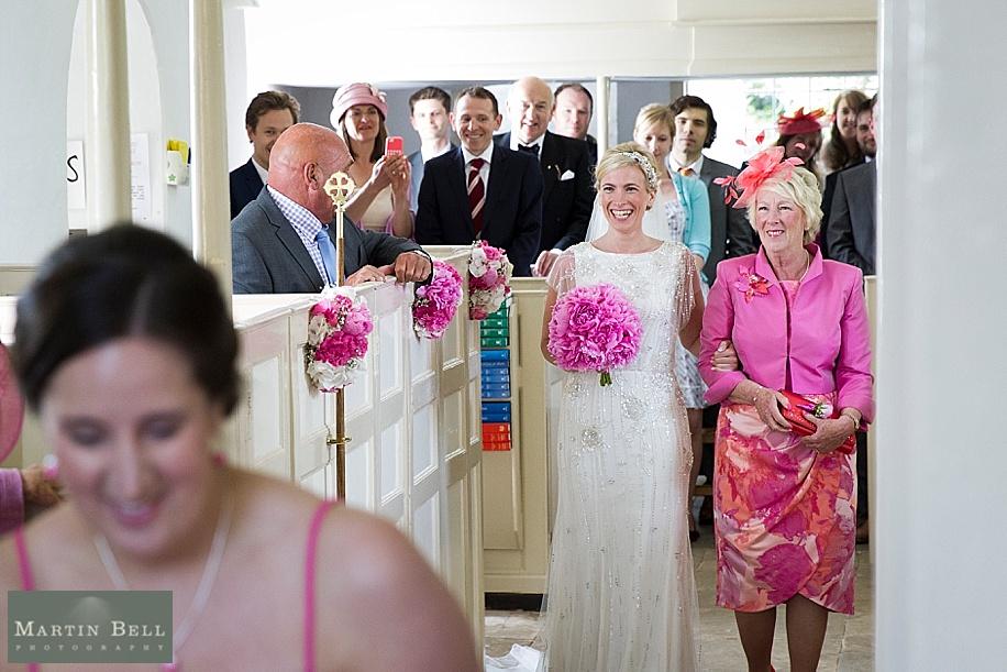Dorset wedding photographer - Martin Bell Photography - Bride's entrance
