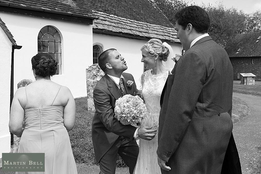 Wedding photographs at All Saints, Chalbury - Dorset wedding photographers - Martin Bell Photography