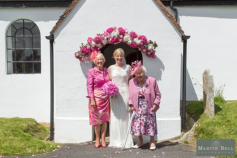 Wedding photographs at All Saints, Chalbury - Dorset wedding photographers - Martin Bell Photography - Family formal photographs