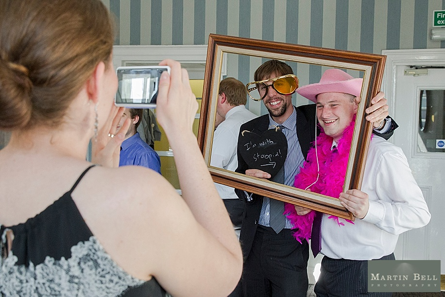 Fun wedding photographs at Southampton's Dolphin Hotel