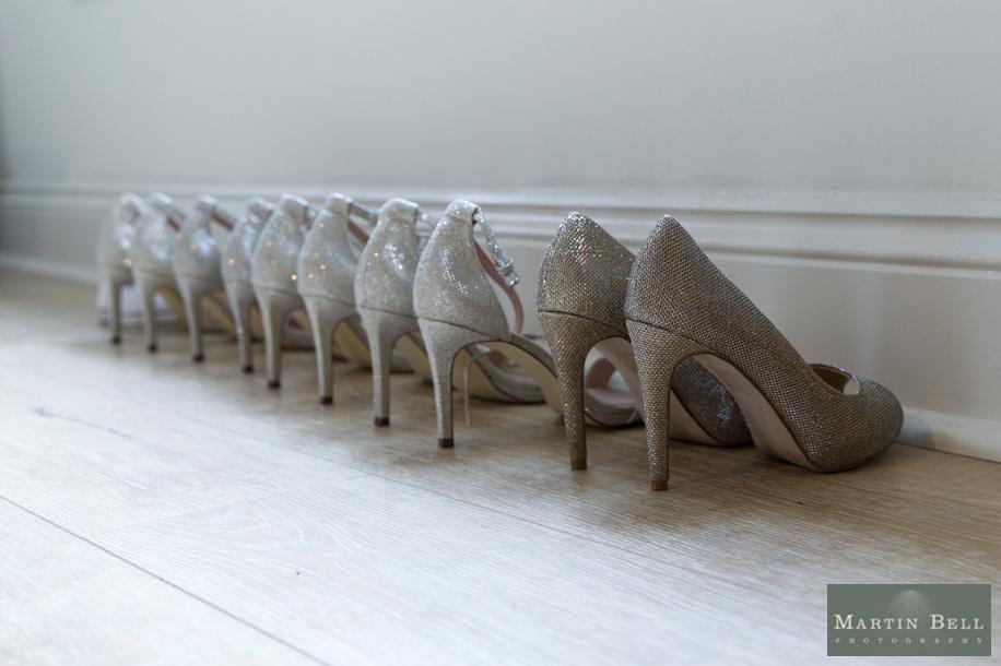 wedding shoes at a Manor Barn in Buriton wedding