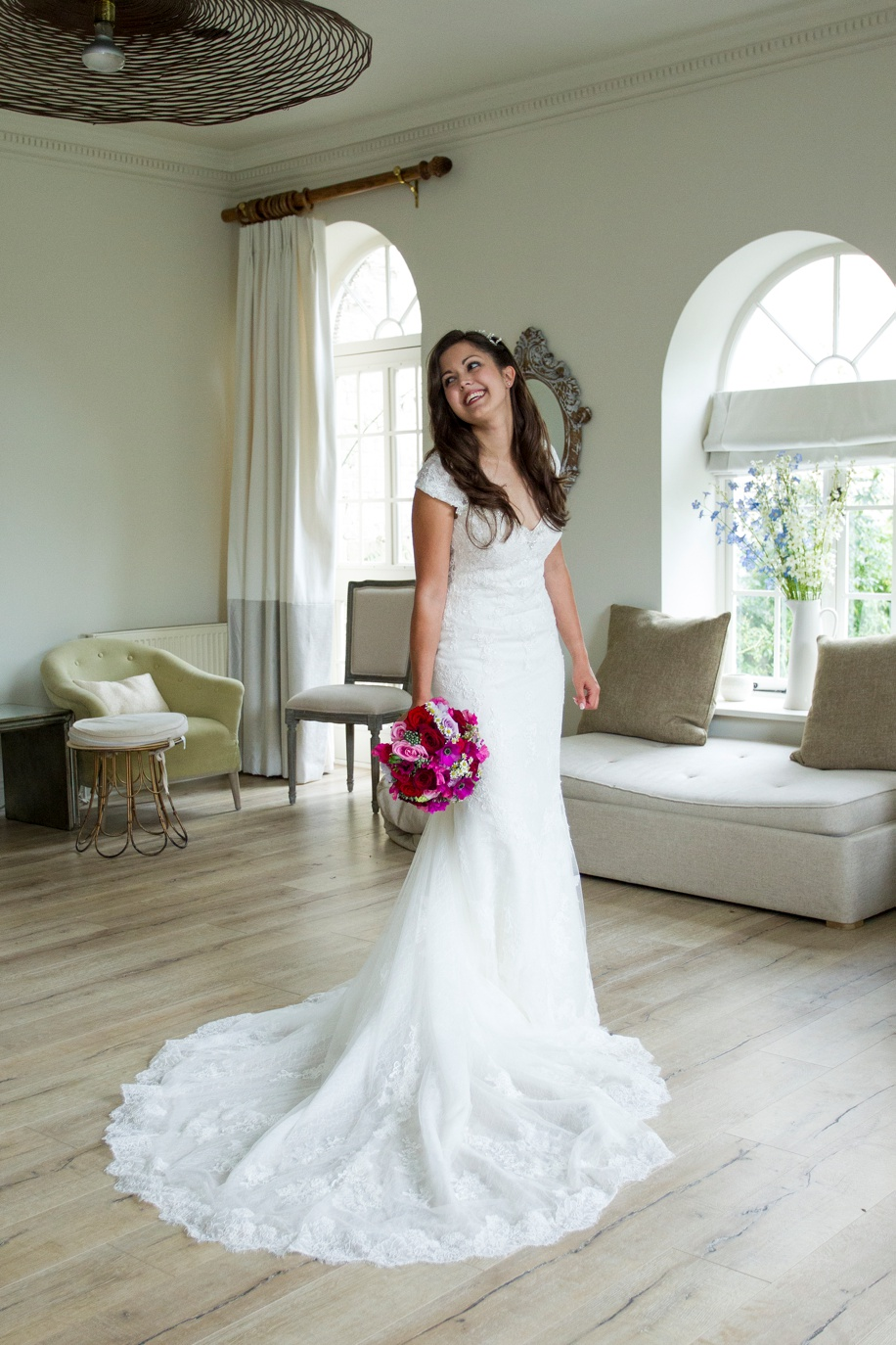 Manor Barn Buriton wedding photography - Beautiful photograph of the Bride