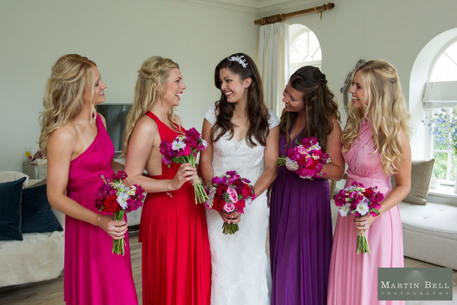 Manor Barn Buriton wedding photography - Beautiful photograph of the Bride and her Bridesmaids