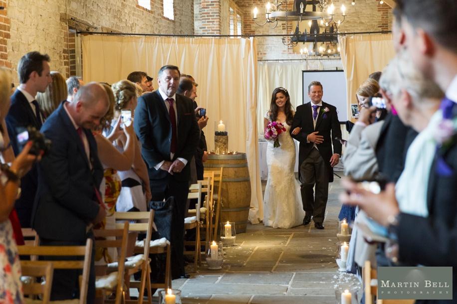 Manor Barn Buriton wedding photography - Brides entrance
