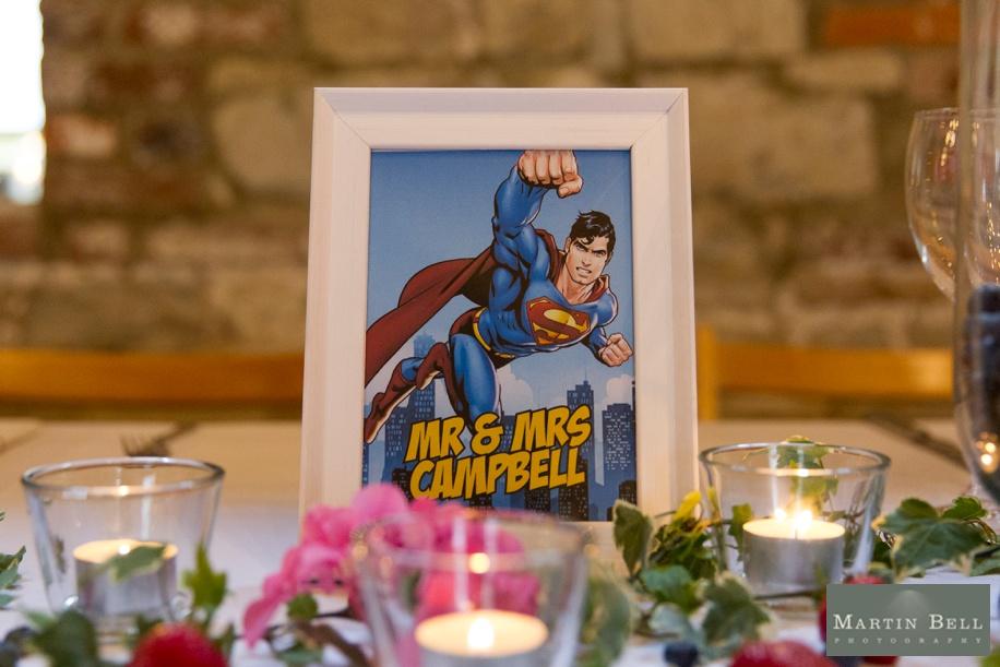 Unique wedding ideas - Superhero themed table names - Superman
