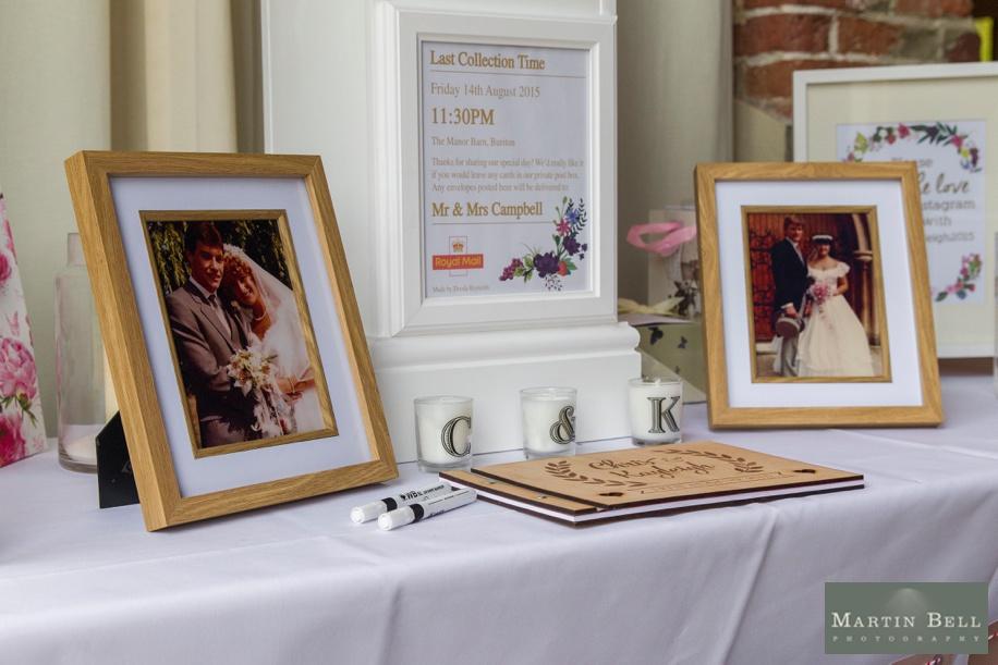 Unique wedding ideas - old wedding day photographs of parents