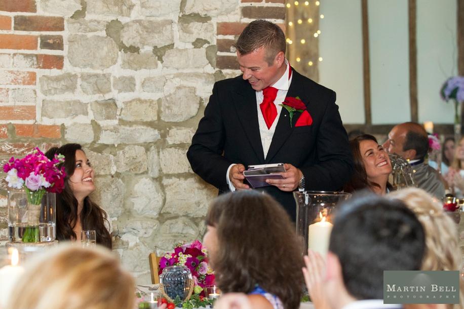 Hampshire wedding photography - Manor Barn Buriton - cool speech ideas