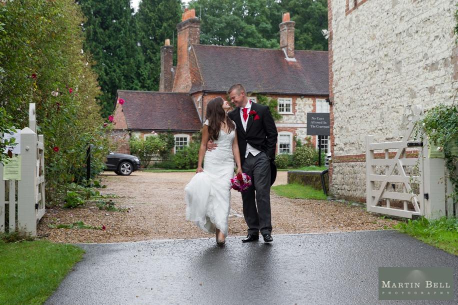 Manor Barn Buriton wedding photography - Bride and Groom photographs