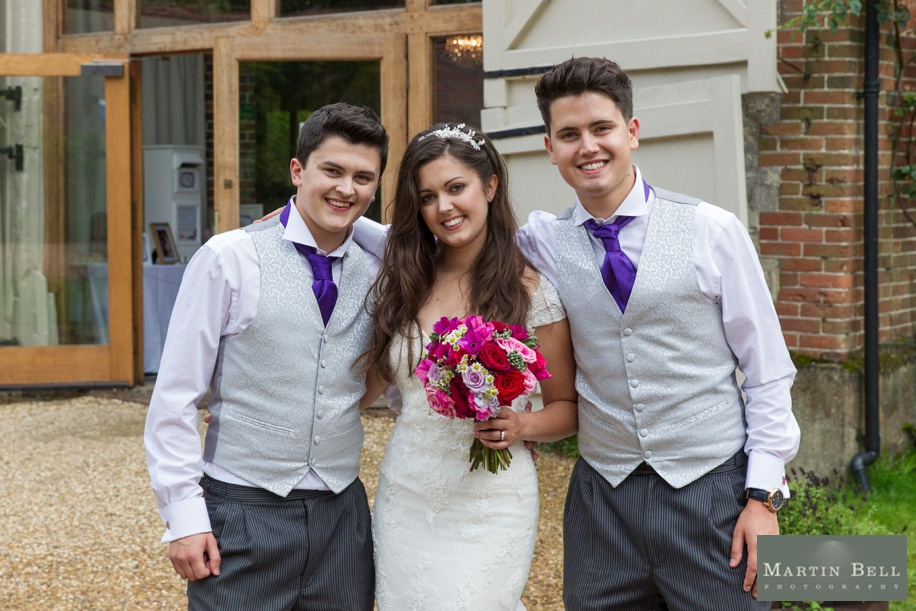 Bride and brothers