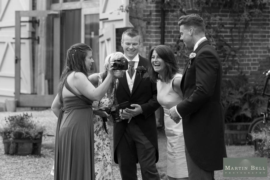 Documentary wedding photography at The Manor Barn in Buriton