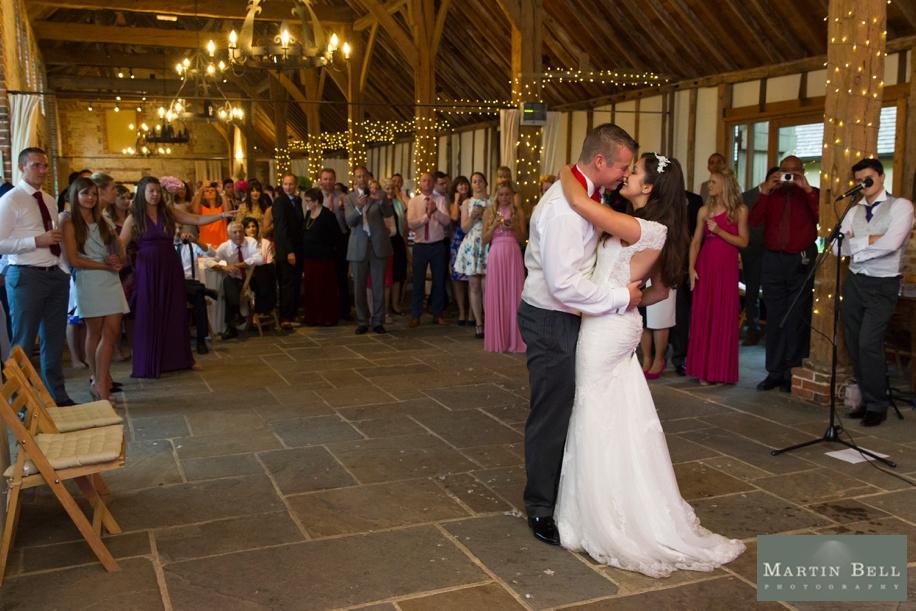 Manor Barn Buriton wedding photography - first dance