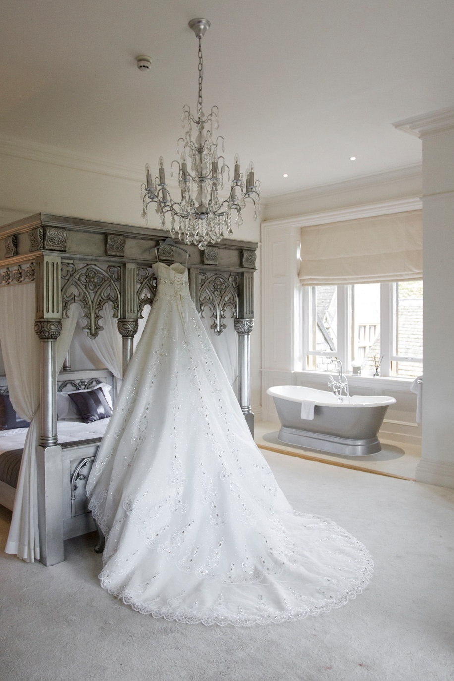 Stunning wedding dress - Manor by the Lake wedding - Martin Bell Photography