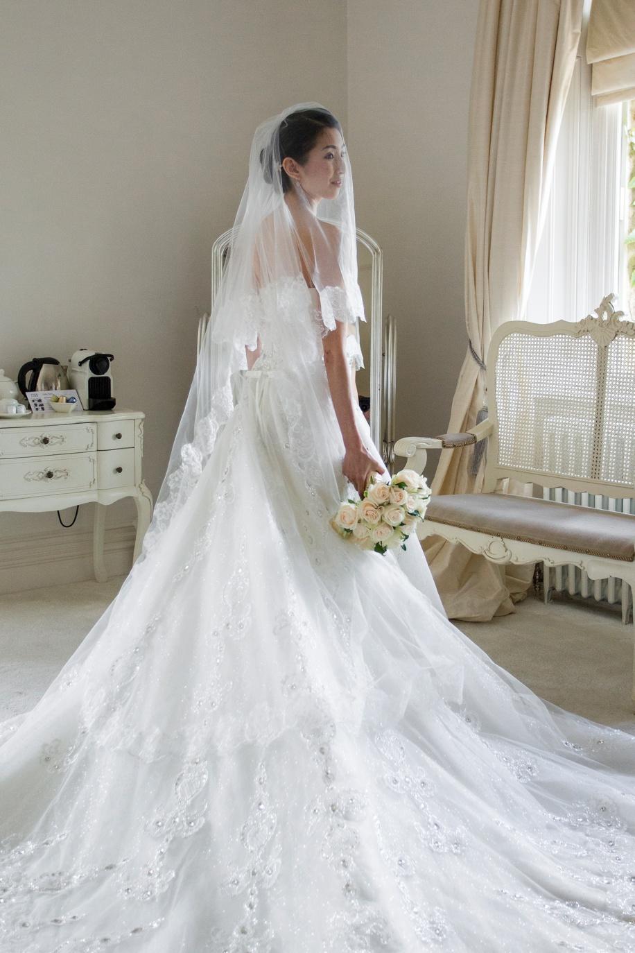 Elegant Bridal portrait - Manor by the Lake wedding - Martin Bell Photography