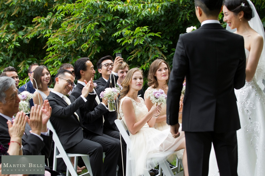 Manor by the Lake outdoor wedding ceremony - Martin Bell Photography