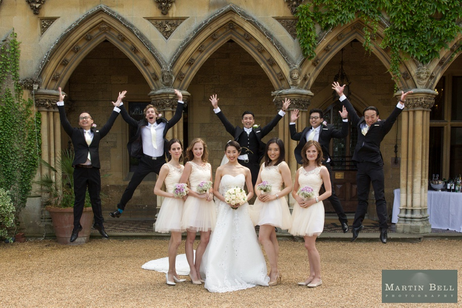 Manor by the Lake wedding - fun Bridal party photograph - Martin Bell Photography