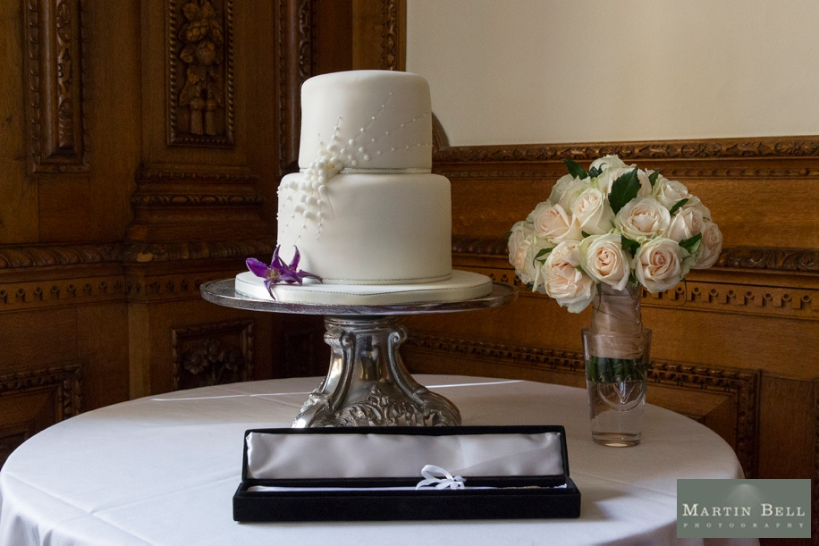 Elegant wedding cake at Manor by the Lake - Martin Bell Photography