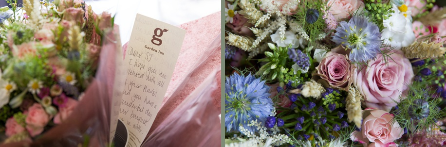 Photographs of a wedding in Winchester by Hampshire wedding photographer, Martin Bell Photography - wild flower bouquet ideas