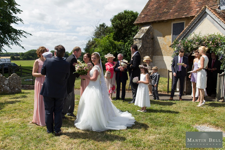 Documentary wedding photography at a church wedding in Winchester by Martin Bell Photography