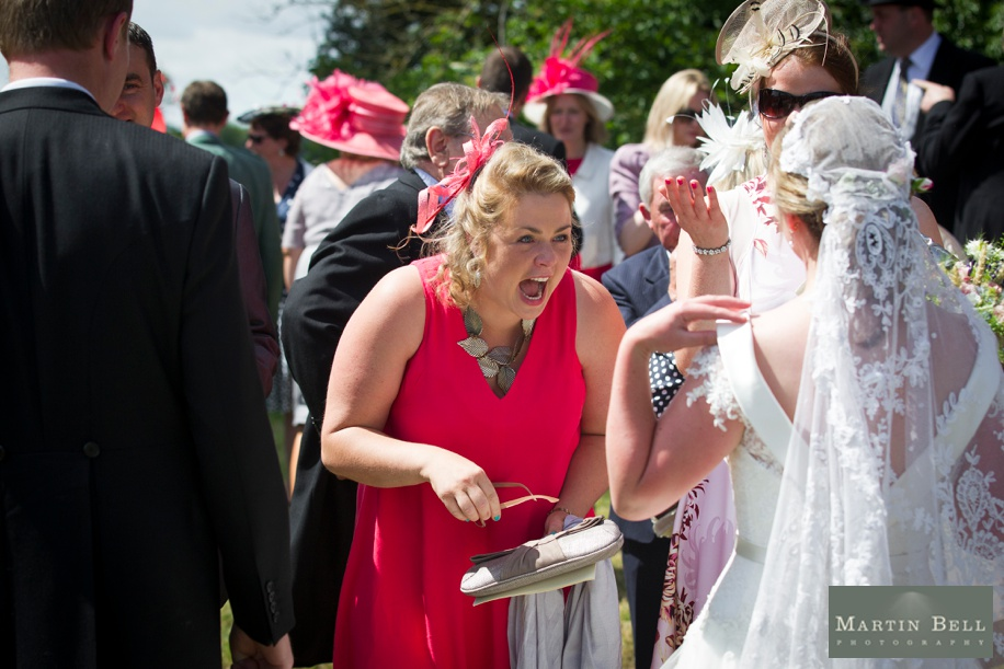 Documentary wedding photography at a marquee wedding in Winchester by Martin Bell Photography
