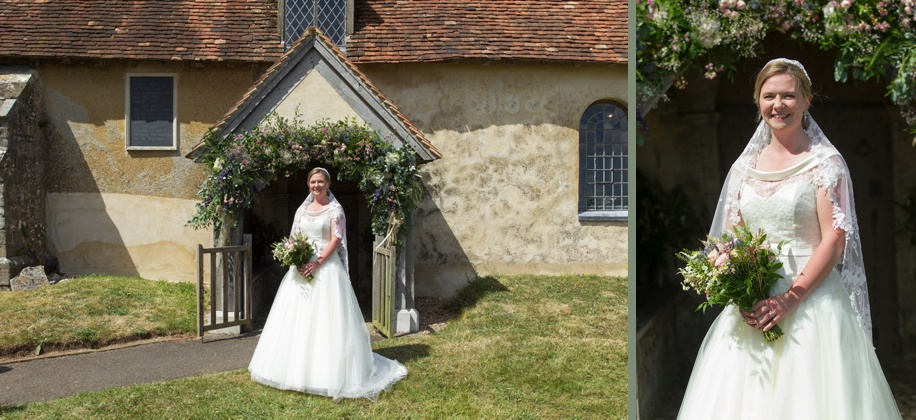 Beautiful Bridal portrait at a church wedding in Winchester by Martin Bell Photography