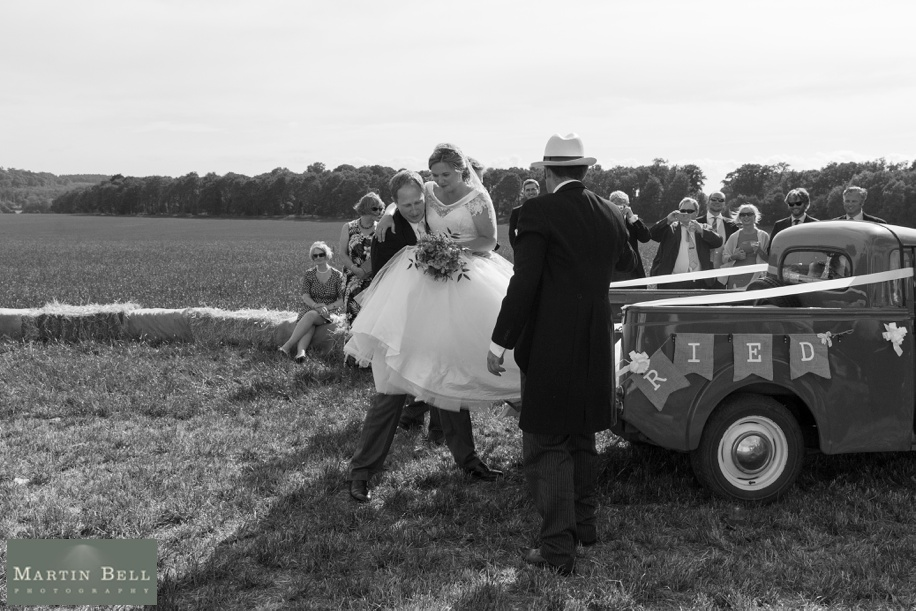 Documentary wedding photograph ideas at a Winchester marquee wedding in Hampshire by Martin Bell Photography