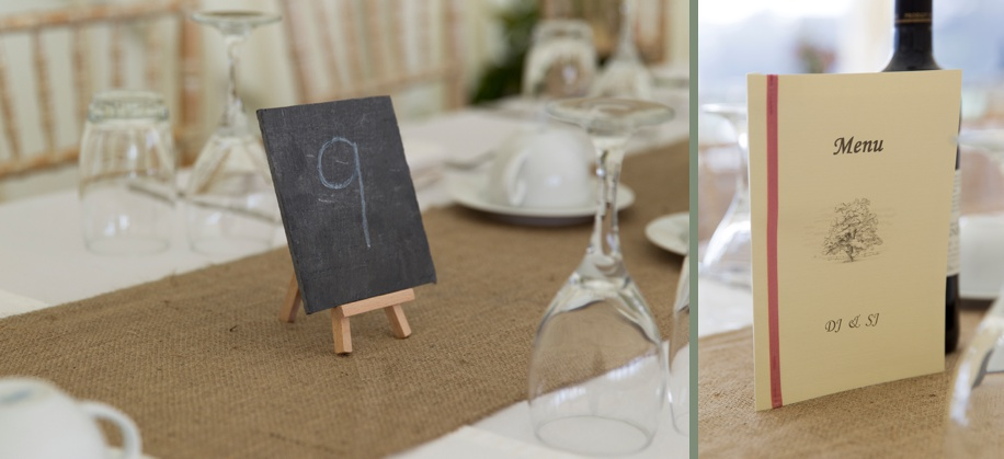 Marquee wedding ideas in Winchester Hampshire - table names