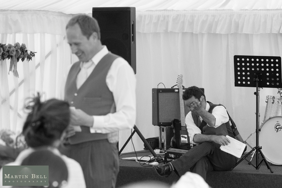 Marquee wedding - Winchester - Speeches - Martin Bell Photography
