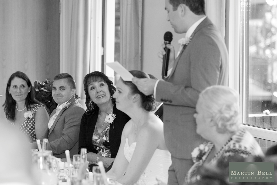 Documentary wedding photographs in Hampshire by Martin Bell Photography - Speeches