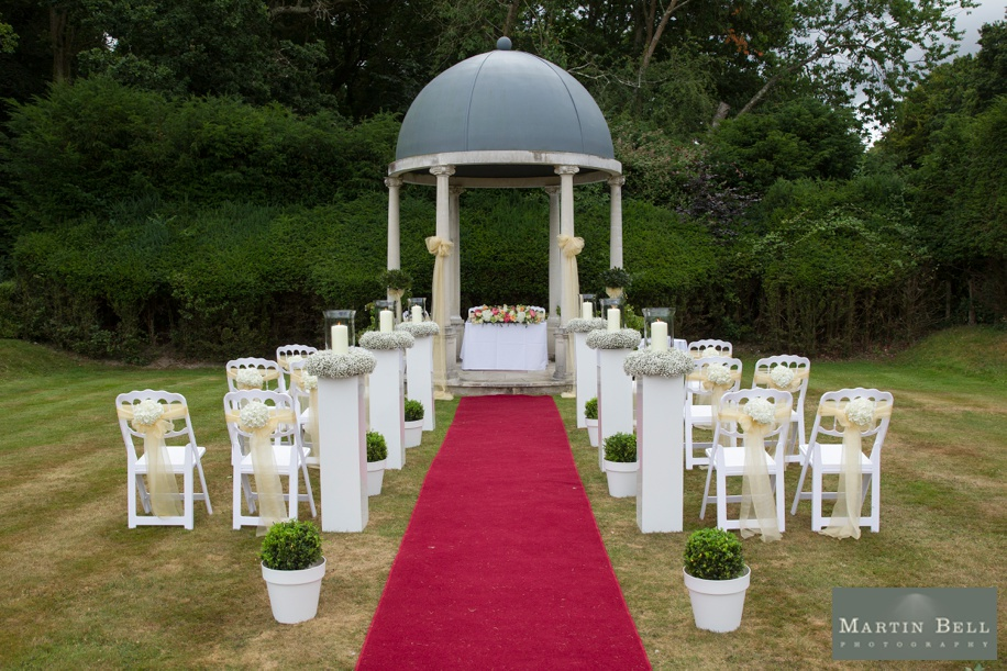 Outdoor ceremony ideas for a New Forest Wedding at Rhinefield house - The Forest Garden - Martin Bell Photography