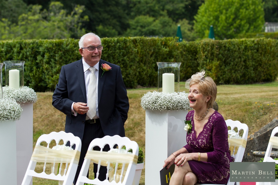 New Forest wedding - Outdoor ceremony - The Forest garden at Rhinefield House by Martin Bell Photography