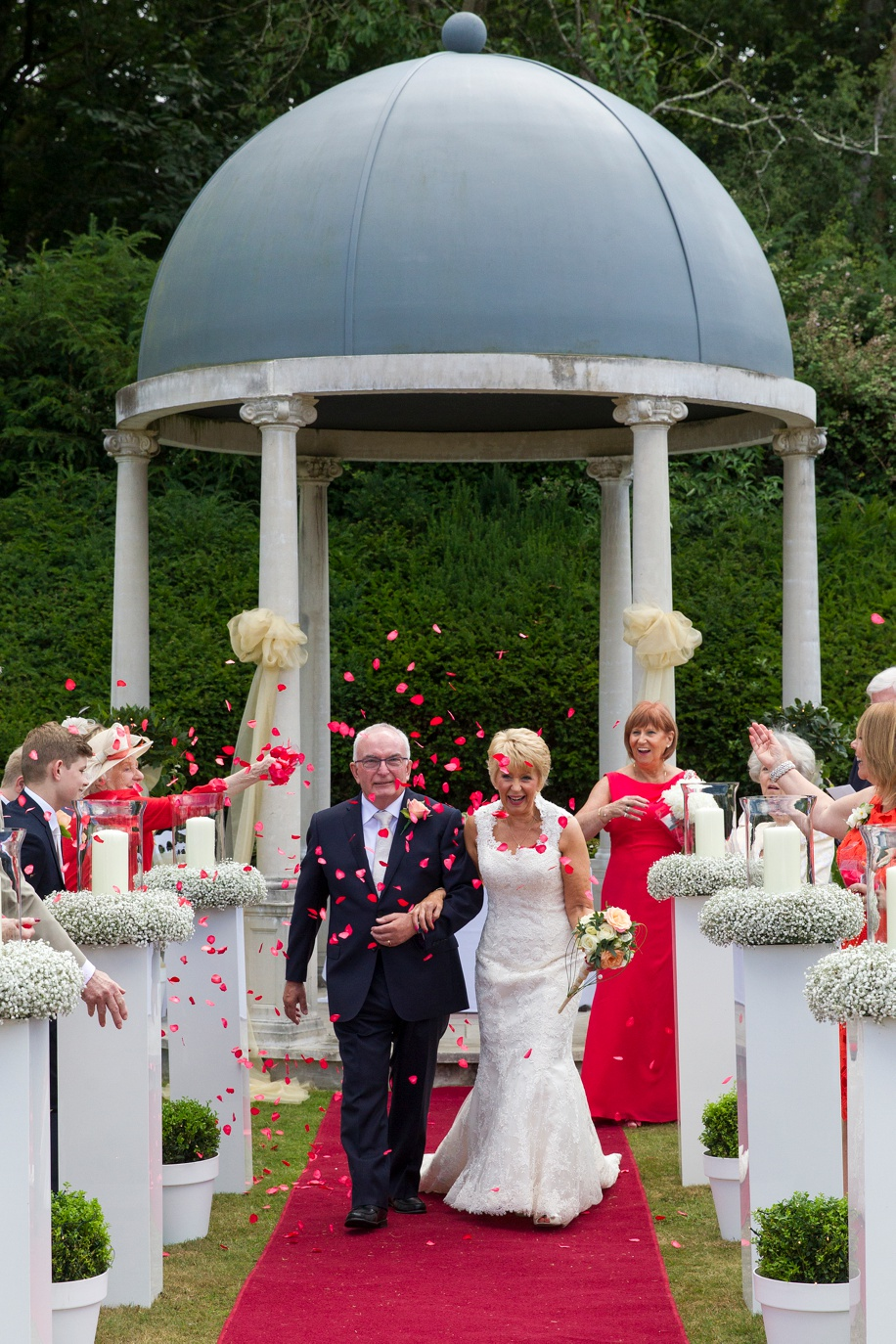 Stunning New Forest wedding photographs in The Forest garden at Rhinefield House - outdoor ceremony - Martin Bell Photography
