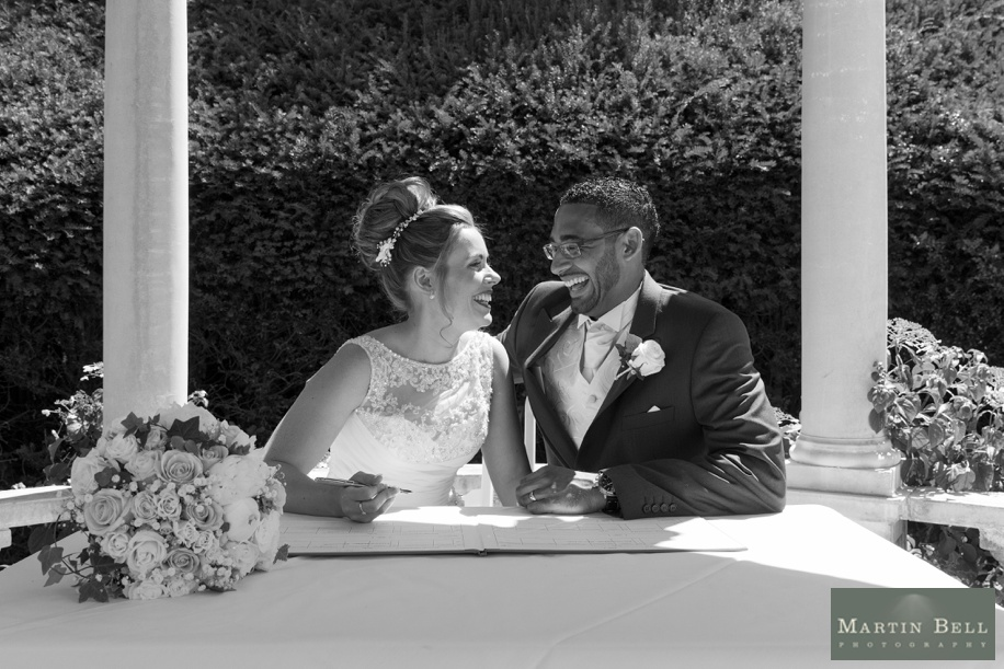Outdoor ceremony Rhinefield House - New Forest wedding - Martin Bell Photography