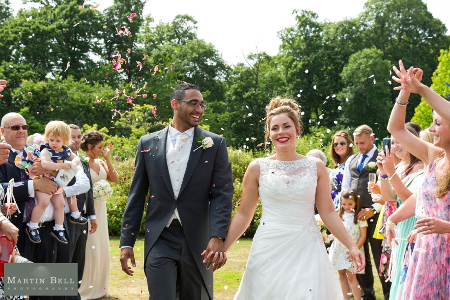 confetti photograph at Rhinefield House in the New Forest