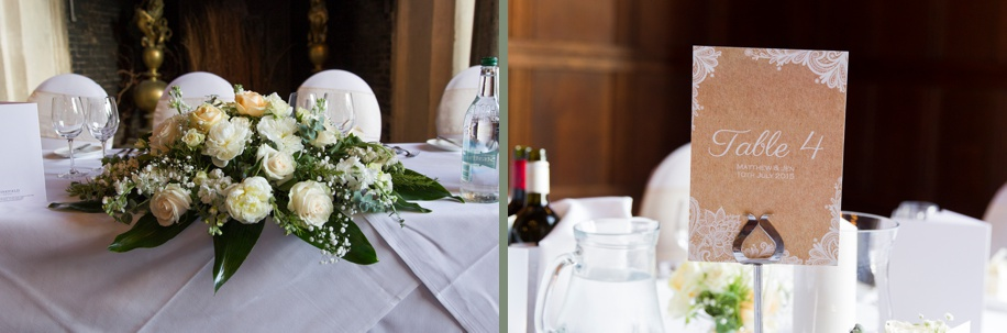 Wedding breakfast ideas - Hampshire wedding photographer - Martin Bell Photography